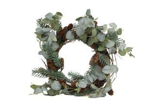 41cm Christmas Wreath Eucalyptus Pine Cones Leaves Xmas Door Decor Decoration