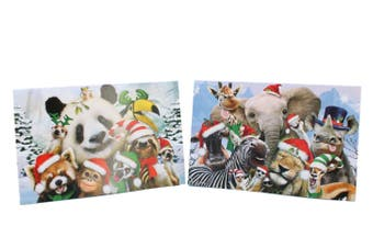 10x Christmas Xmas Greeting Cards & Envelopes w Gold Foil High Quality [Design: J]