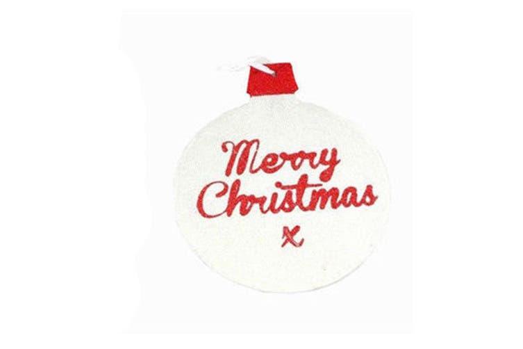 Christmas Glitter Hanging Door Wall Xmas Decoration Decor Merry Christmas Colour Red Kogan Com
