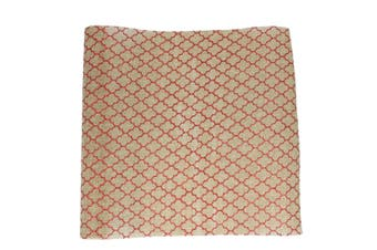 Christmas XMAS Burlap Hessian Roll Table Runner Wrap Craft Red Gold Glitter[Design: Moroccan_Red (48cm)]