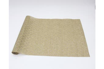 Christmas XMAS Burlap Hessian Roll Table Runner Wrap Craft Red Gold Glitter[Design: Moroccan (48cm)]