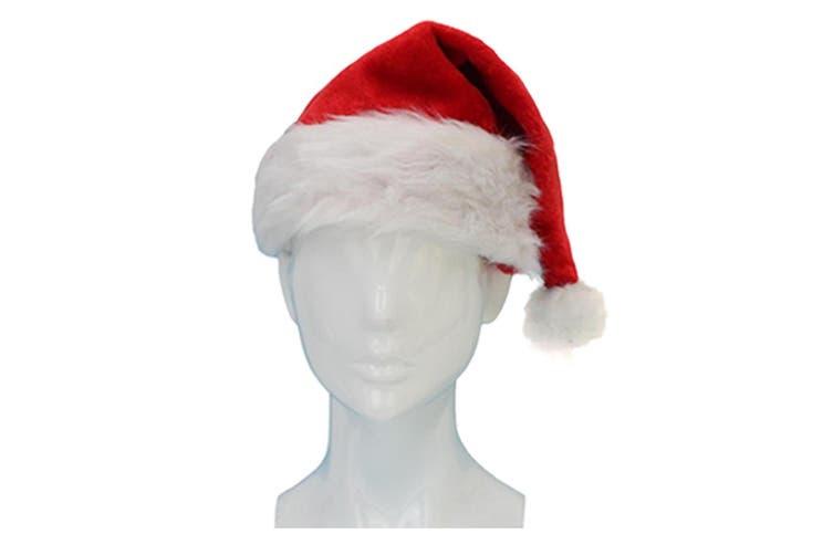 Adult Santa Hat Christmas Cap Costume Xmas Party Wear Costume Claus [Design: Santa Hat D (Adults)]