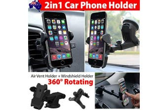 Windshield /Air Vent /Dashboard Car Mount Smart Phone GPS PDA Holder Cradel