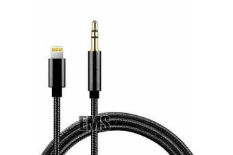 Lightning to 3.5mm Jack Male Audio AUX Cable For iPhone 12 Pro Max 11 Pro Max XS Max XR 8 7 6 iOS iPad (Black)
