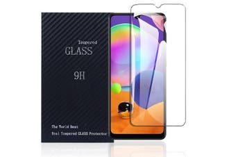 [1 PACK] Samsung Galaxy A31 Full Coverage Tempered Glass Screen Protector Guard (Clear)