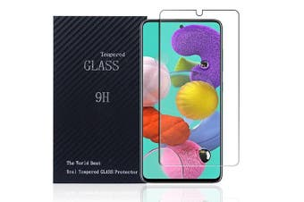 [1 PACK] Samsung Galaxy A51 Full Coverage Tempered Glass Screen Protector Guard (Clear)