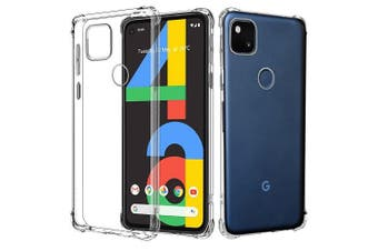 For Google Pixel 4A Shockproof Tough Air Cushion Gel Clear Transparent Heavy Duty Case Cover