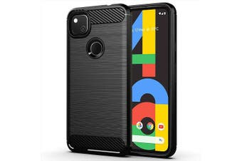 For Google Pixel 4A Case Rugged Shockproof Heavy Duty Snti Slip Protective Case Cover (Black)
