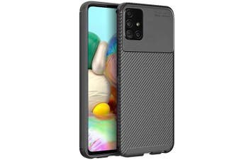For Samsung Galaxy A71 5G Case, (Not For Samsung Standard A71) Rugged Shockproof Heavy Duty Anti Slip Protective Case Cover (Black)