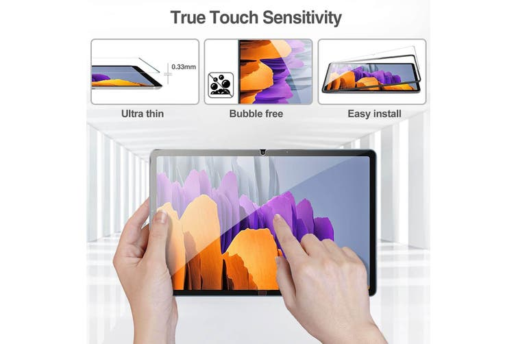 For Samsung Galaxy Tab S7+ /S7 Plus SM- T970 /T976B 11 inch Tempered Glass Anti Scratch Screen Protector [1 Pack]