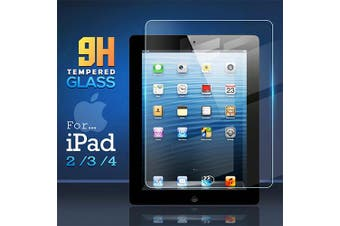 For Apple iPad 2 / 3 / 4 2nd 3rd 4th Gen Generation Screen Protector Tempered Glass Screen Protector - Case Friendly