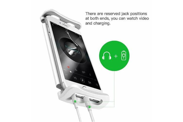 Universal 360° Rotating Tablet iPad Stand Holder Lazy Bed Desk Mount iPad iPhone Samsung Lenovo(White)