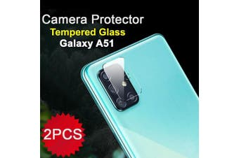 [2 PACK] Samsung Galaxy A51 Camera Lens Tempered Glass Screen Protector Guard - Case Friendly