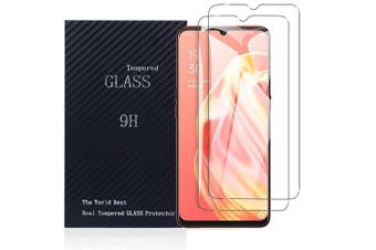 [2 PACK] Oppo A91 Full Coverage Tempered Glass Screen Protector Guard (Clear)