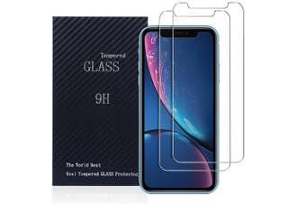 [2 PACK] Apple iPhone XR Screen Protector Tempered Glass Screen Protector Guard - Case Friendly