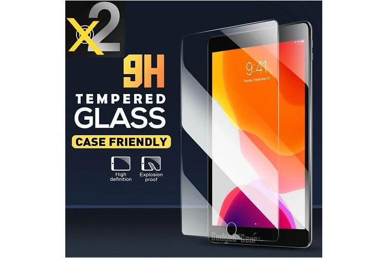 [2 Pack] For Apple iPad 7 7th Gen Generation 10.2 2019 Tempered Glass Screen Protector  - Case Friendly