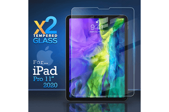 [2 Pack] For Apple iPad Pro 11 2020 (2nd Gen) Tempered Glass Anti Scratch Screen Protector Guard  - Case Friendly