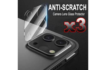 [3 PACK] Apple iPad Pro 11 2020 (11-inch, 2nd generation) Camera Lens Tempered Glass Screen Protector Guard - Case Friendly