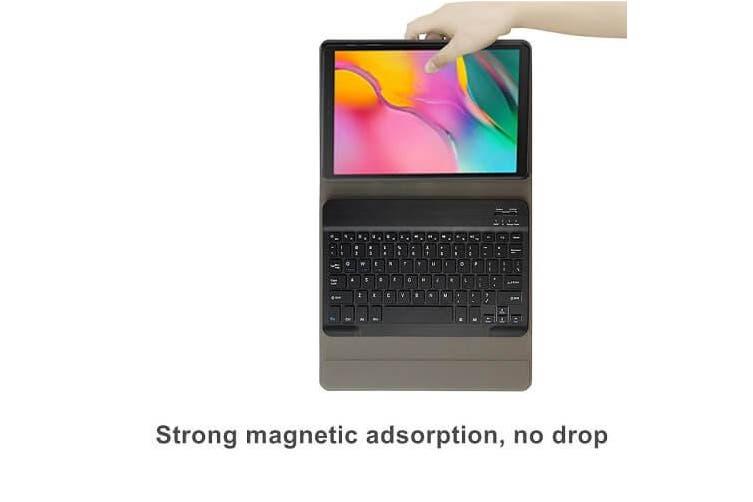 Samsung Galaxy Tab A 10.1 2019 Bluetooth Keyboard Case, Tab SM-T510/T515 Lightweight Protective Slim Folio Leather Smart Sleep Awake Cover Case with Detachable Wireless Bluetooth Keyboard(Black)