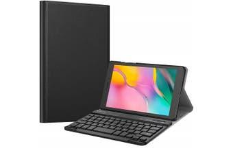 Samsung Galaxy Tab A 8.0 2019 Bluetooth Keyboard Case, Tab SM-T290/T295 Lightweight Protective Slim Folio Leather Smart Sleep Awake Cover Case with Detachable Wireless Bluetooth Keyboard(Black)