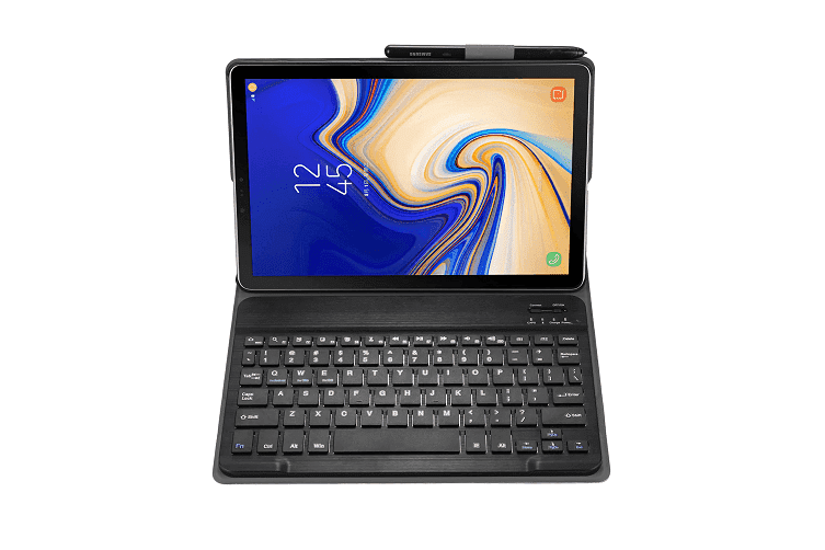 Samsung Galaxy Tab S4 Bluetooth Keyboard Case, Tab SM-T830 T835 10.5 inch Lightweight Protective Slim Folio Leather Smart Sleep Awake Cover Case with Detachable Wireless Bluetooth Keyboard(Black)