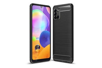 Samsung Galaxy A31 Rugged Shockproof Heavy Duty Snti Slip Protective Case Cover (Black)