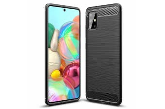 Samsung Galaxy A71 Case, ( NOT FOR A71 5G) Rugged Shockproof Heavy Duty Snti Slip Protective Case Cover (Black)