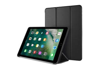 For Apple iPad 5th Gen Case, 5 Generation Case 9.7 2017 Folio Leather Smart Magnetic Flip Stand Case Cover (Black)