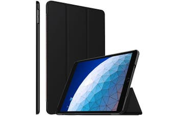For Apple iPad Air 3 Case, Air 3rd Gen 10.5 2019 Cover Folio Leather Smart Magnetic Flip Stand Case Cover (Black)