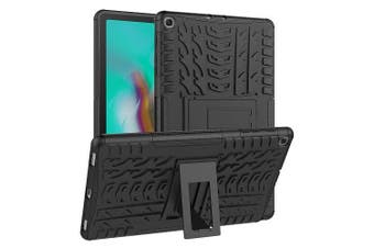 For Samsung Galaxy Tab S5e Case, SM- P720 / P725 Kickstand Shockproof Heavy Duty Tough Protective Rugged Cover (Black)