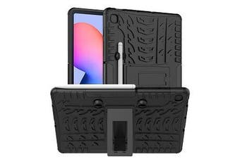 For Samsung Galaxy Tab S6 Lite Case, Tab SM- P610 / P615 Kickstand Shockproof Heavy Duty Tough Protective Rugged Cover (Black)