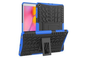 For Samsung Galaxy Tab A 10.1 2019 Case, Tab SM-T510 SM-T515 Kickstand Shockproof Heavy Duty Tough Protective Rugged Cover (Blue)
