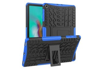 For Samsung Galaxy Tab S5e Case, SM- P720 / P725 Kickstand Shockproof Heavy Duty Tough Protective Rugged Cover (Blue)