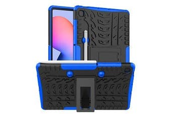 For Samsung Galaxy Tab S6 Lite Case, Tab SM- P610 / P615 Kickstand Shockproof Heavy Duty Tough Protective Rugged Cover (Blue)
