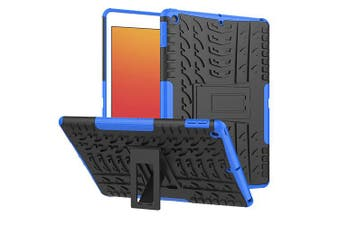 For Apple iPad 8th Gen Case, 8 Generation 10.2 2020 Case, Kickstand Shockproof Heavy Duty Tough Protective Rugged Cover (Blue)