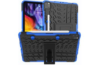 For Apple iPad Pro 11 2020 Case, iPad Pro 11 2nd Gen Kickstand Shockproof Heavy Duty Tough Protective Rugged Cover (Blue)