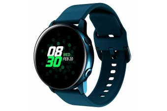 For Samsung Galaxy Watch Active 2 44mm Replacement Silicone Sport Wrist Band Strap (Green)
