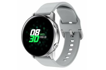 For Samsung Galaxy Watch Active 2 40mm Replacement Silicone Sport Wrist Band Strap (Grey)