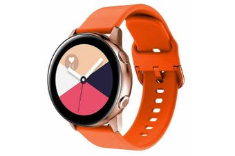 For Samsung Galaxy Watch Active 2 44mm Replacement Silicone Sport Wrist Band Strap (Orange)