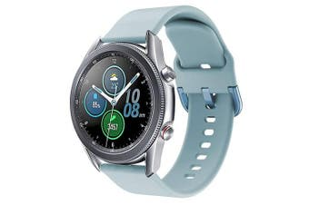 For Samsung Galaxy Watch 3 41mm Replacement Silicone Sport Wrist Band Wristband Strap (Light Blue)