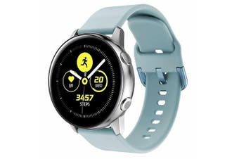 For Samsung Galaxy Watch Active Replacement Silicone Sport Wrist Band Strap (Light Blue)