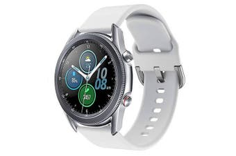For Samsung Galaxy Watch 3 41mm Replacement Silicone Sport Wrist Band Wristband Strap (White)