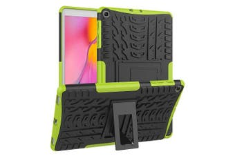 For Samsung Galaxy Tab A 10.1 2019 Case, Tab SM-T510 SM-T515 Kickstand Shockproof Heavy Duty Tough Protective Rugged Cover (Green)