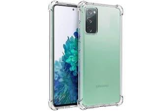 For Samsung Galaxy S20 FE 5G Case Shockproof Tough Air Cushion Gel Crystal Clear Transparent Heavy Duty Case Cover