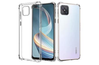 For Oppo Reno4 Z 5G Case Shockproof Tough Air Cushion Gel Clear Transparent Heavy Duty Case Cover