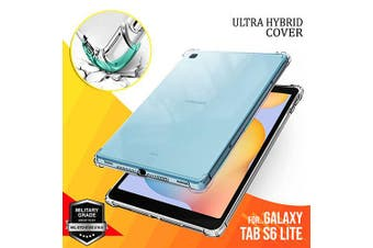 For Samsung Galaxy Tab S6 Lite Case, Tab SM-P610 / P615 10.4 inch 2020 Shockproof Tough Air Cushion Gel Clear Transparent Heavy Duty Case Cover
