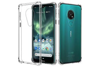 For Nokia 7.2 Shockproof Tough Air Cushion Gel Clear Transparent Heavy Duty Case Cover
