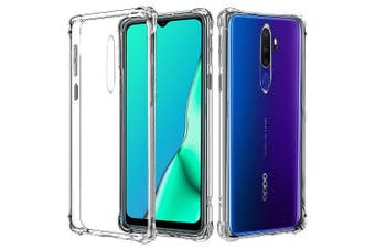 For Oppo A9 2020 Case Shockproof Tough Air Cushion Gel Clear Transparent Heavy Duty Case Cover