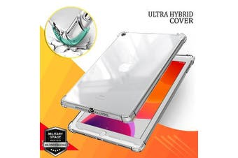 For Apple iPad 7th Gen Case, 7 Generation 10.2 2019  Shockproof Tough Air Cushion Gel Clear Transparent Heavy Duty Case Cover