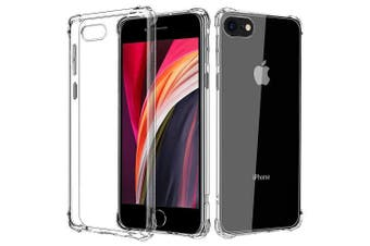 For Apple iPhone SE 2nd Gen 2020 Case Shockproof Tough Air Cushion Gel Clear Transparent Heavy Duty Case Cover